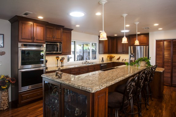 Kitchen remodeling projects and addition for the Wagenleitner family.
